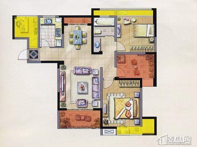 绿地波士顿公馆3期绿地1、2号楼GB152室2厅1卫 89.13㎡