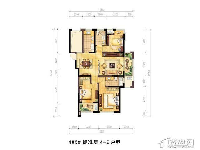 绿地波士顿公馆4室2厅2卫1厨 128.00㎡