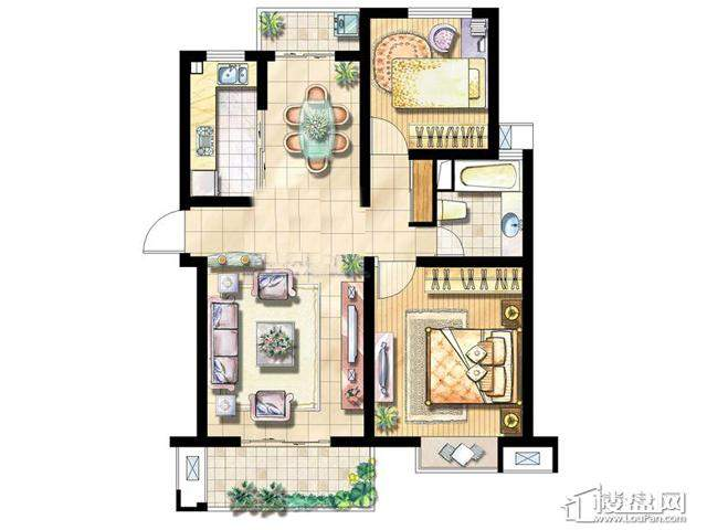 绿地波士顿公馆DB22室2厅1卫 84.00㎡