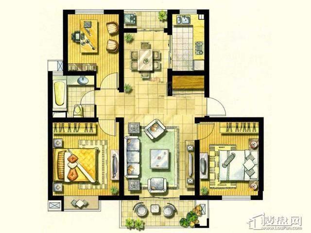 绿地波士顿公馆DC73室2厅1卫 102.00㎡