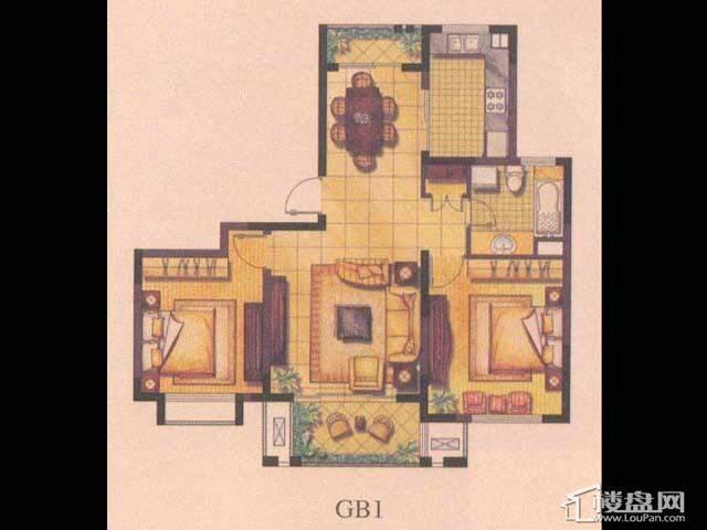 绿地波士顿公馆GB12室2厅1卫1厨 94.00㎡