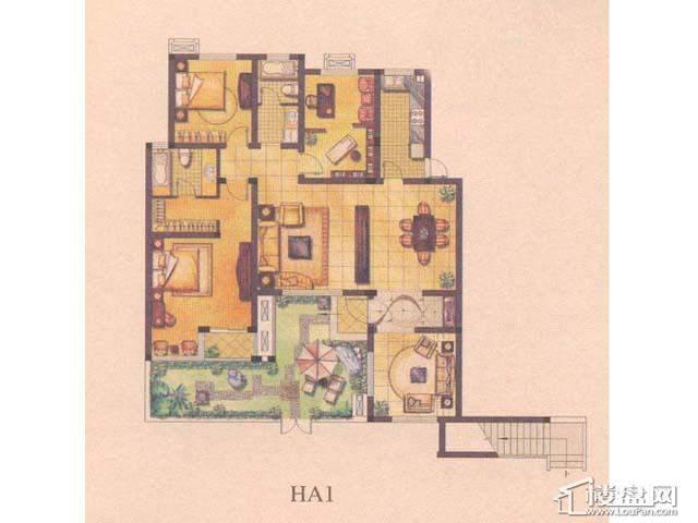 绿地波士顿公馆HA14室2厅2卫1厨 147.00㎡