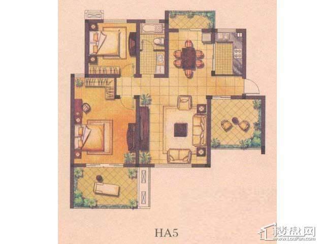 绿地波士顿公馆HA52室2厅1卫1厨 101.00㎡