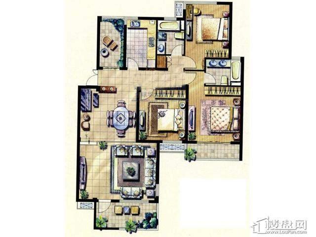 绿地波士顿公馆HD23室2厅2卫 140.00㎡