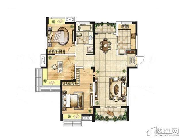 绿地波士顿公馆三期观景高层GC17户型3室2厅1卫1厨 115.00㎡