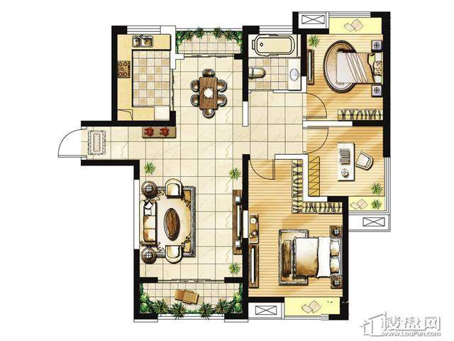 绿地波士顿公馆三期观景高层GC21户型3室2厅 115.00㎡