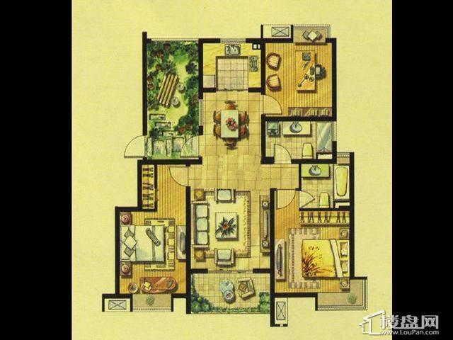 绿地波士顿公馆小高层GC23室2厅2卫 120.00㎡