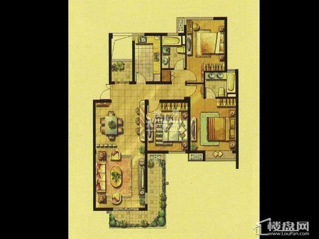公馆洋房HD33室2厅2卫 128.00㎡