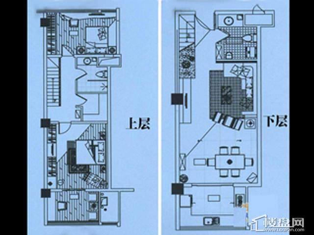 香格梅里公馆A户型2室2厅2卫1厨 67.00㎡