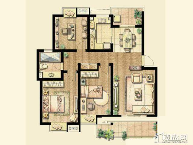 B3户型(已售完)3室2厅1卫 110.83㎡