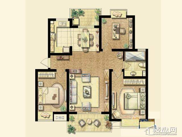 B4户型(已售完)3室2厅1卫 109.86㎡