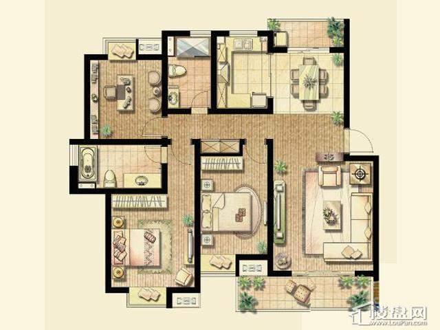 C1户型(已售完)3室2厅2卫 130.76㎡