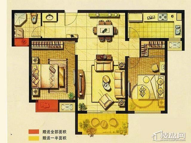二期A2户型2室2厅1卫 91.00㎡