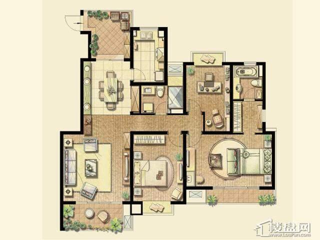 (已售完)3室2厅2卫 138.00㎡