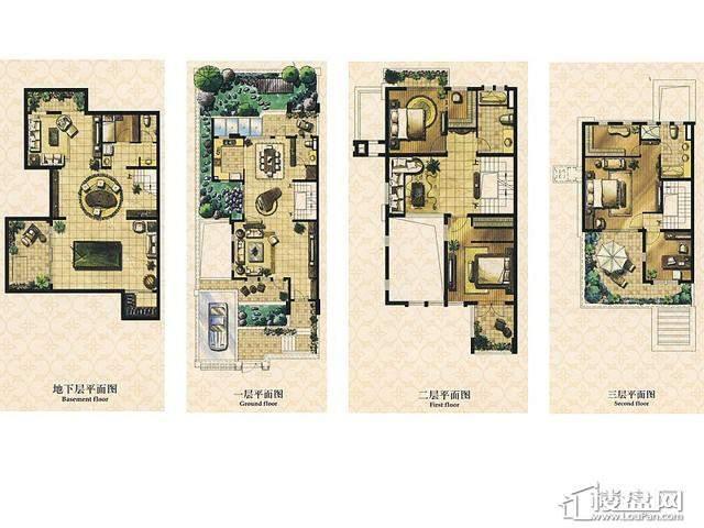 A1户型5室3厅4卫 235.00㎡