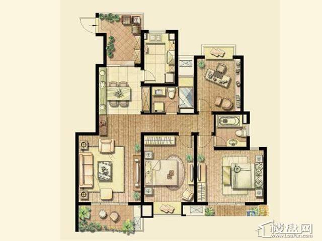 户型(已售完)3室2厅2卫 130.00㎡