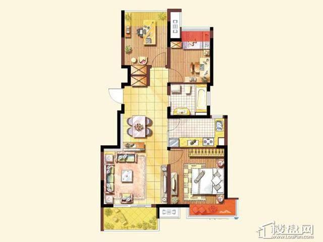 A户型3室2厅1卫 89.00㎡