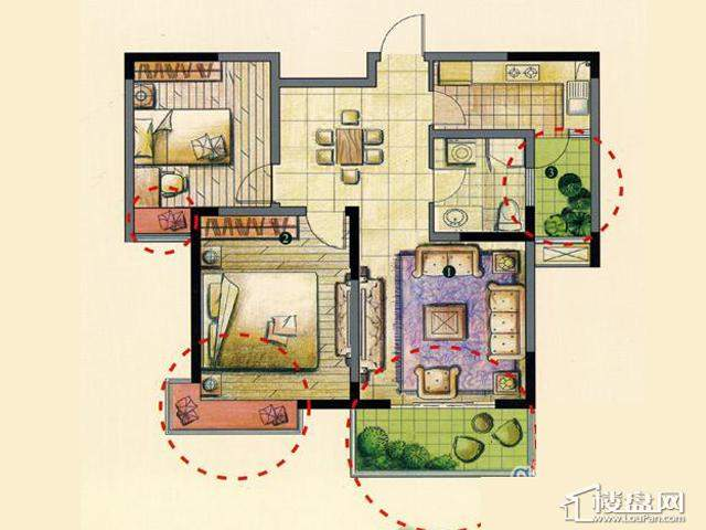 B2室2厅1卫 93.00㎡
