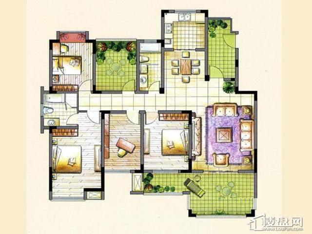 L24室2厅2卫 160.00㎡