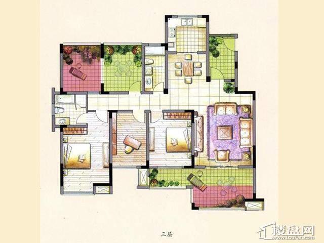 L33室2厅2卫 142.00㎡