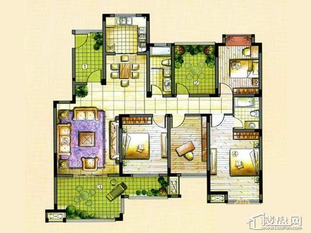 M2B4室2厅2卫 153.00㎡