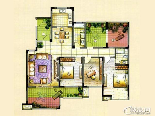 M3B3室2厅2卫 137.00㎡