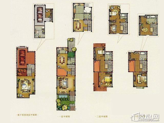 A4N户型4室3厅4卫 261.00㎡