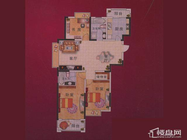 3室2厅2卫 134.65㎡