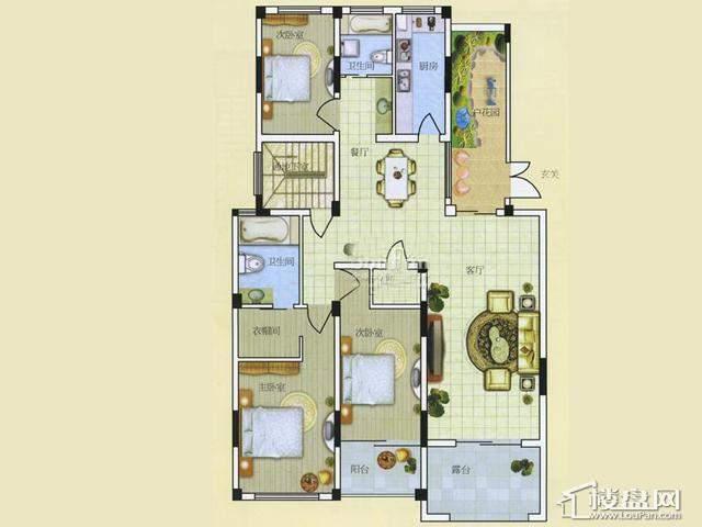 A23室2厅2卫 151.00㎡