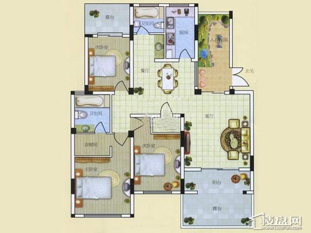 A33室2厅2卫 129.00㎡