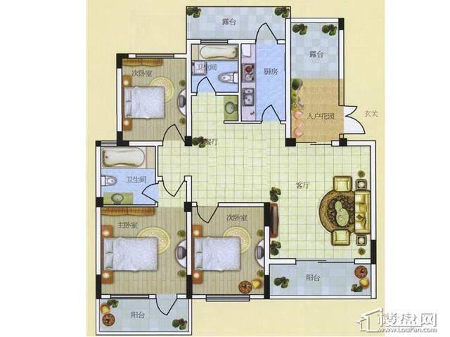 A43室2厅2卫 117.00㎡