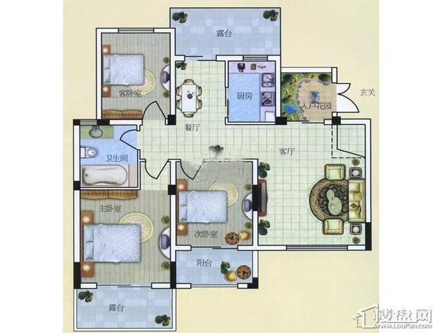 A53室2厅1卫 99.50㎡