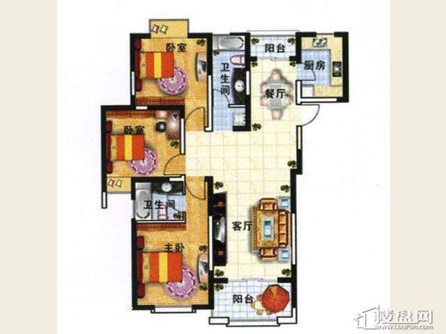 户型一3室2厅2卫 131.60㎡