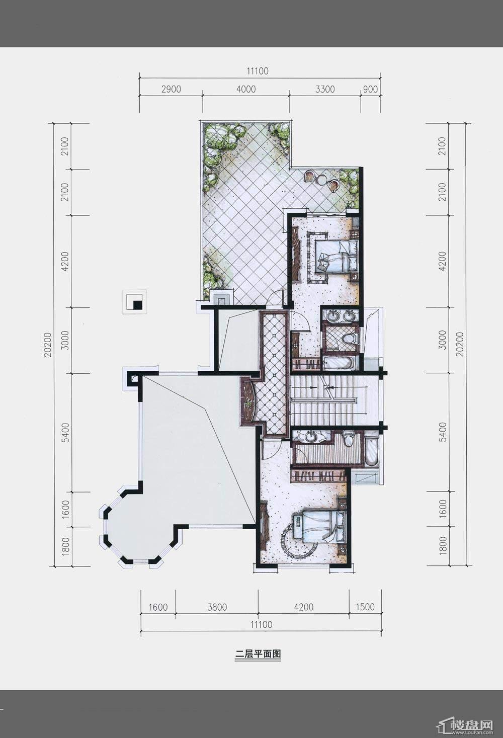 卢浮原著二层平面图户型图