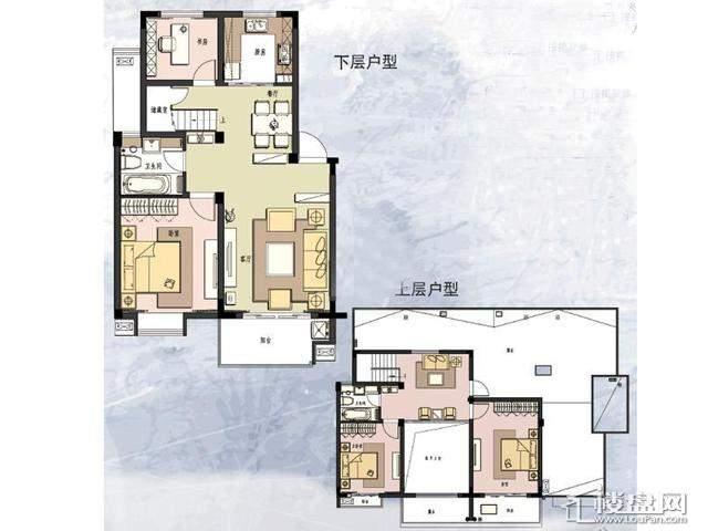 B'户型4室2厅2卫 150.00㎡