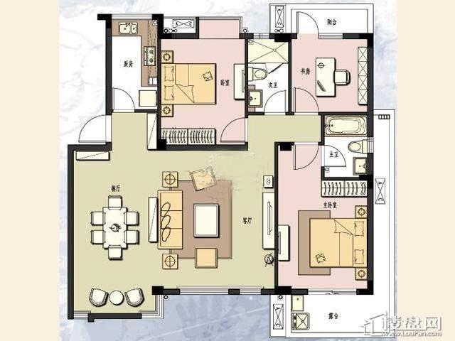 K6户型3室2厅2卫 112.00㎡