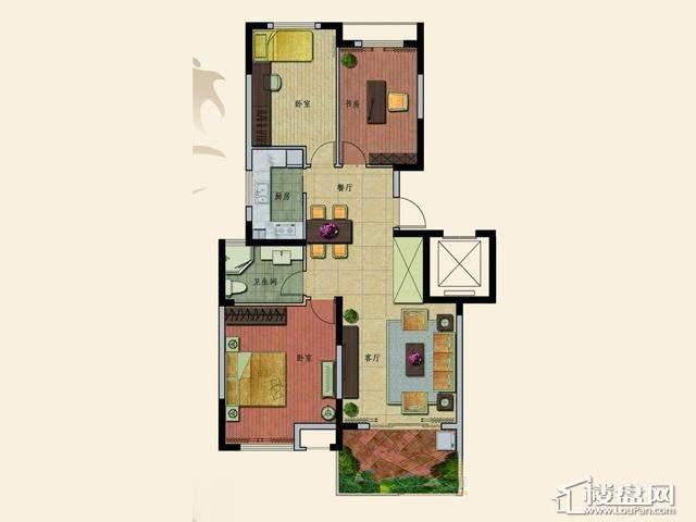 B5户型3室2厅1卫 106.23㎡