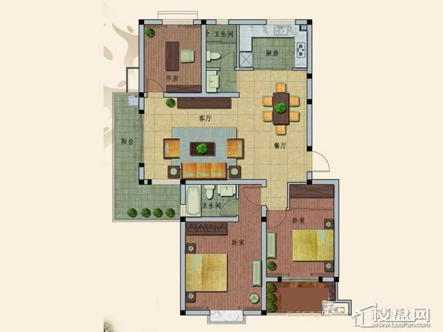 C2户型3室2厅2卫 126.12㎡