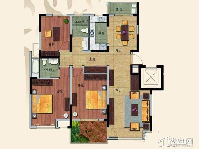 C3户型3室2厅2卫 139.72㎡