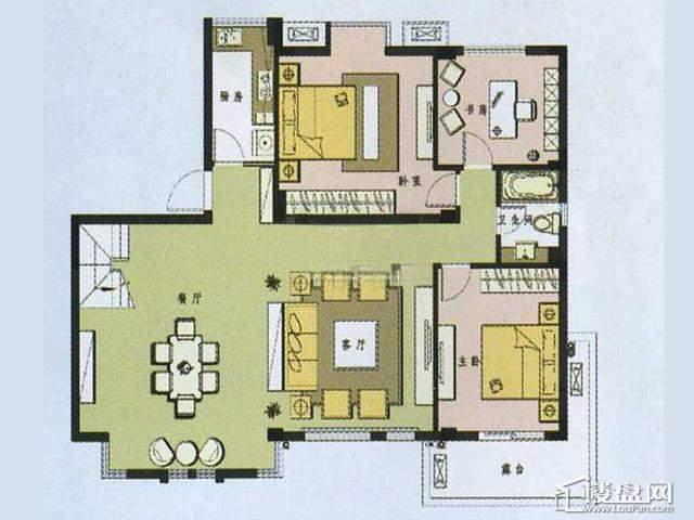 户型图4室2厅2卫 188.00㎡