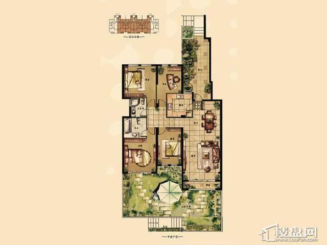 1'4室2厅2卫 147.00㎡