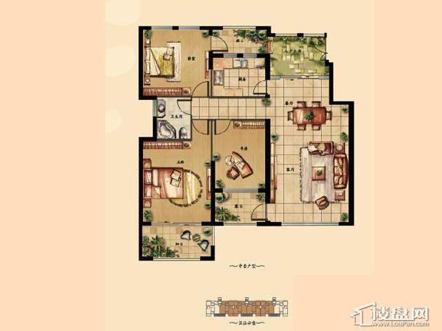4'3室2厅1卫 115.00㎡