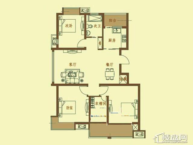B户型3室3厅3卫 122.99㎡
