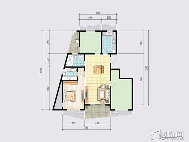7号楼GG户型3室2厅2卫 107.00㎡