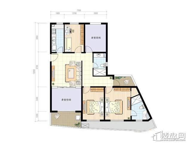 C23室2厅2卫 131.00㎡