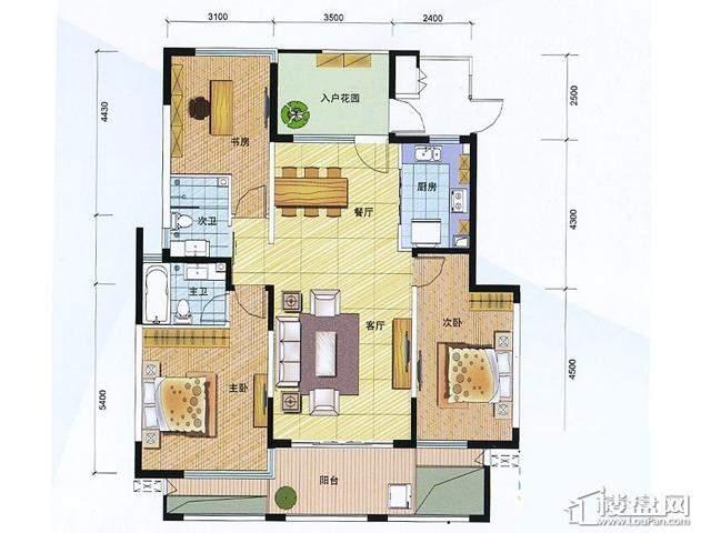 D户型 3室2厅2卫 140.00㎡