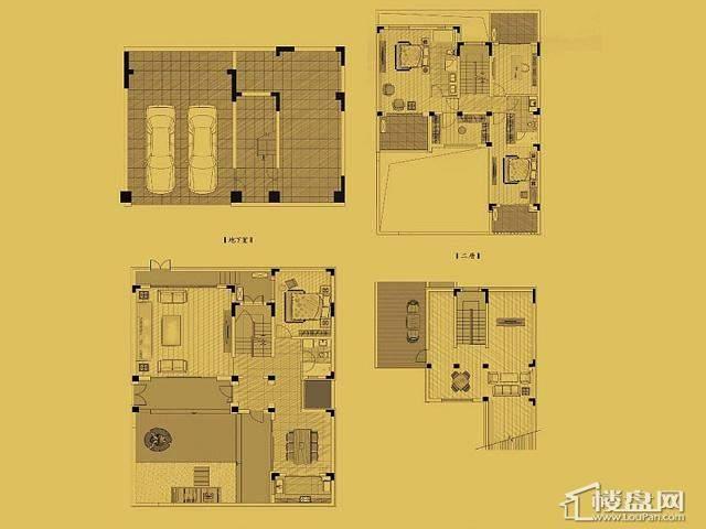 独栋E1户型4室4厅3卫 238.55㎡