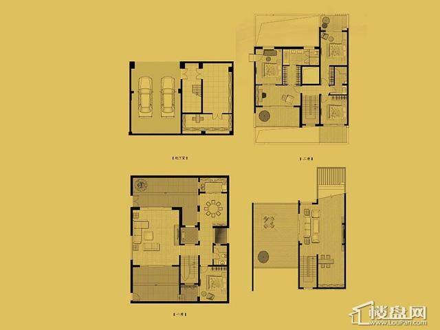 独栋E2户型4室5厅3卫 242.03㎡