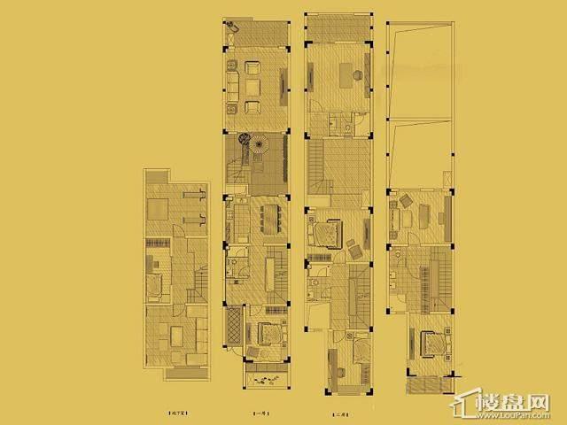 联排B户型5室5厅4卫 208.91㎡