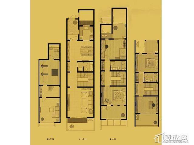 联排c1户型4室4厅3卫 166.27㎡